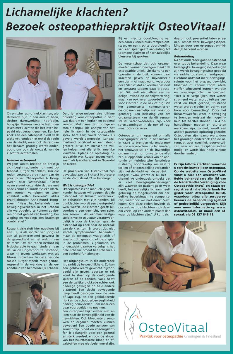 OsteoVitaal in de Drachtster Courant